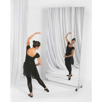 glassless mirror single panel rolling stand