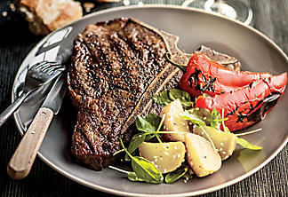 Coffee-Marinated T-Bone Steak