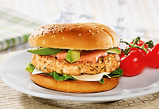 Summery turkey burger
