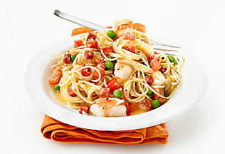 Capellini with shrimp and chorizo à l'espagnole
