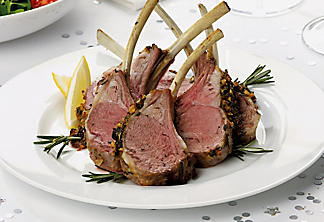 Rack of lamb with lemon and fine herbs