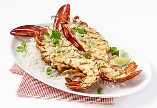 Asian-style grilled lobster