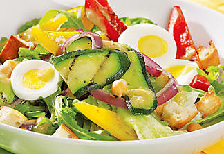 Grilled vegetable summer salad