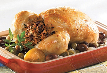Lemon confit chicken with olives