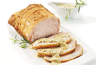 Two-mustard pork loin roast