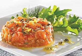 Salmon tartare with citrus and dill