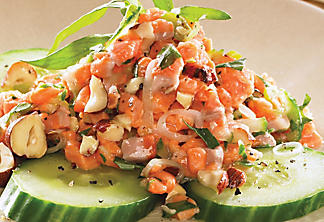 Trout tartare with hazelnuts