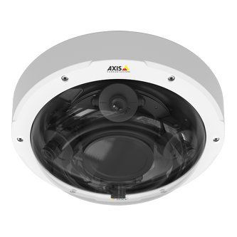 Dome kit for Axis P3707-PE. The dome is pre-mounted in the standard white top cover casing.