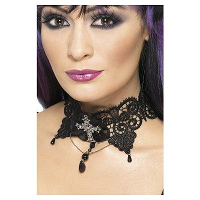 Gothic Lace Choker $12.99 AT vintagedancer.com