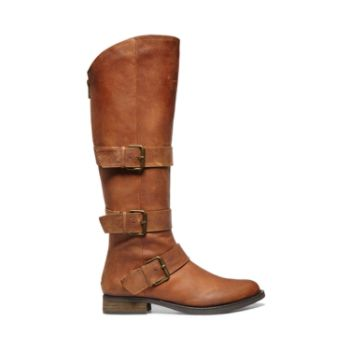Scalone Cognac Leather Boots