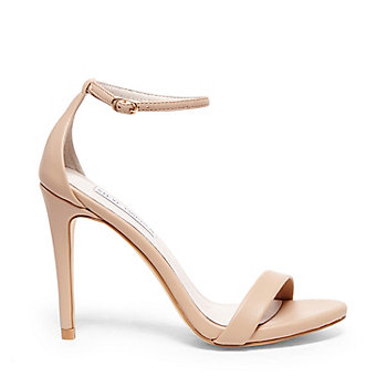 Ankle Strap Heels in White Gold &amp Red | Steve Madden STECY