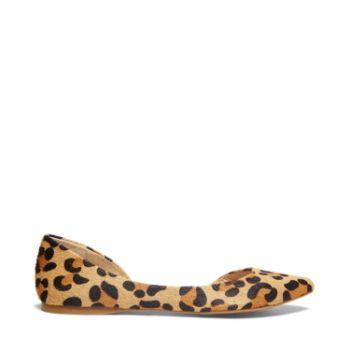 Elusional Leopard Calf Hair Flats