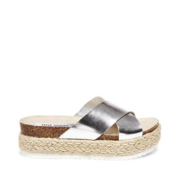 Stevemadden sandals arran silver leather side