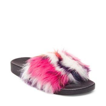 Fluffy Furry Slide Steve Madden Softey