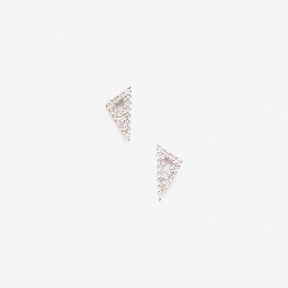 SUPER TINY PAVE RIGHT ANGLE STUDS