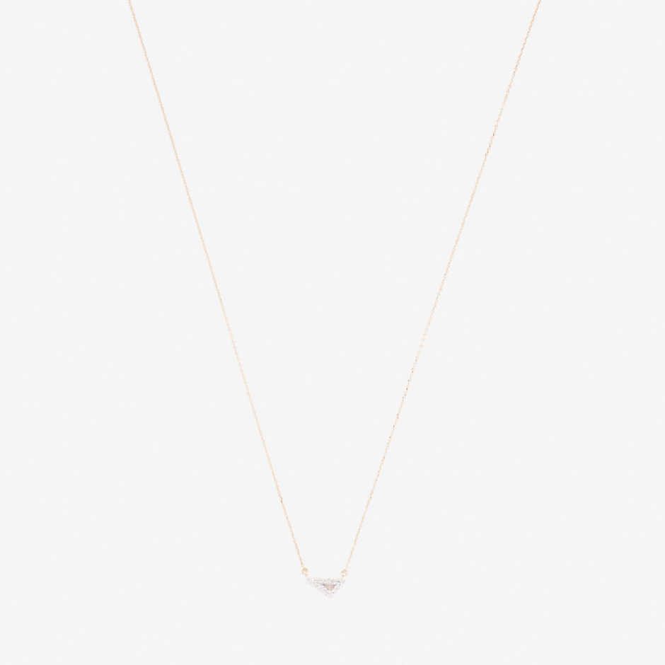 SUPER TINY PAVÉ RIGHT ANGLE NECKLACE