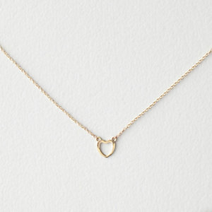 KIDS GOLD HEART NECKLACE 12""
