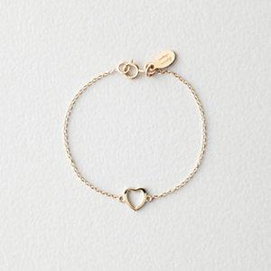 """BABY GOLD HEART BRACELET 4"""""""