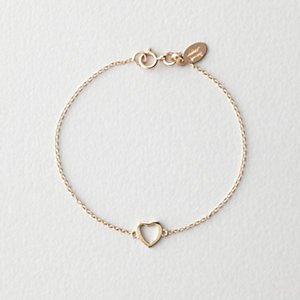 KIDS GOLD HEART BRACELET 6'