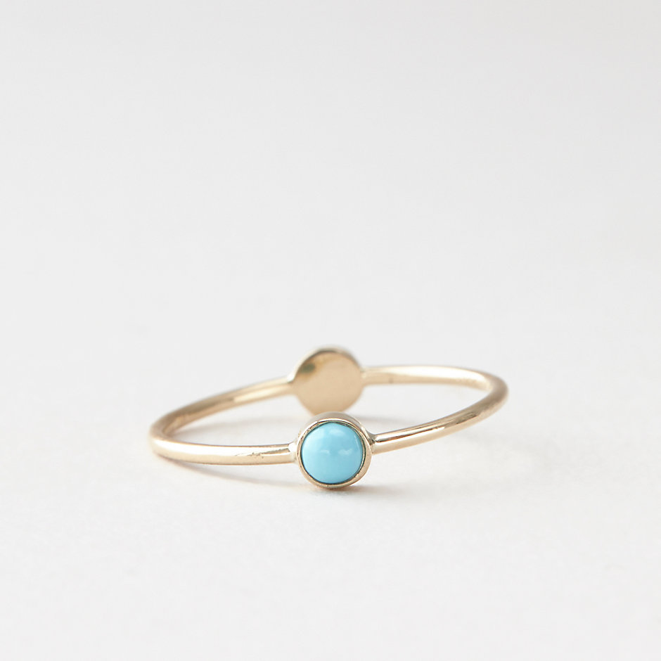 TURQUOISE DIAMOND CIRCLE RING