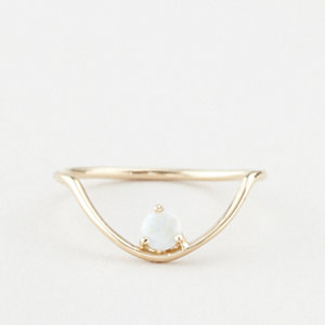 SLOPE ARC OPAL RING