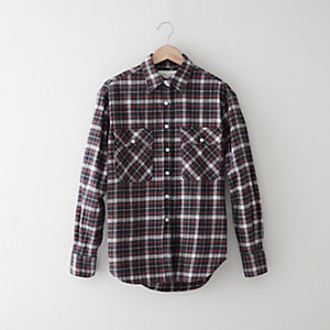 BACK ZIP FLANNEL SHIRT