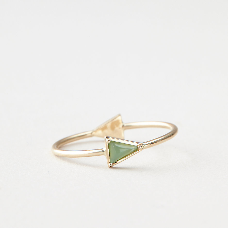 CHRYSOPRASE TRIANGLE RING