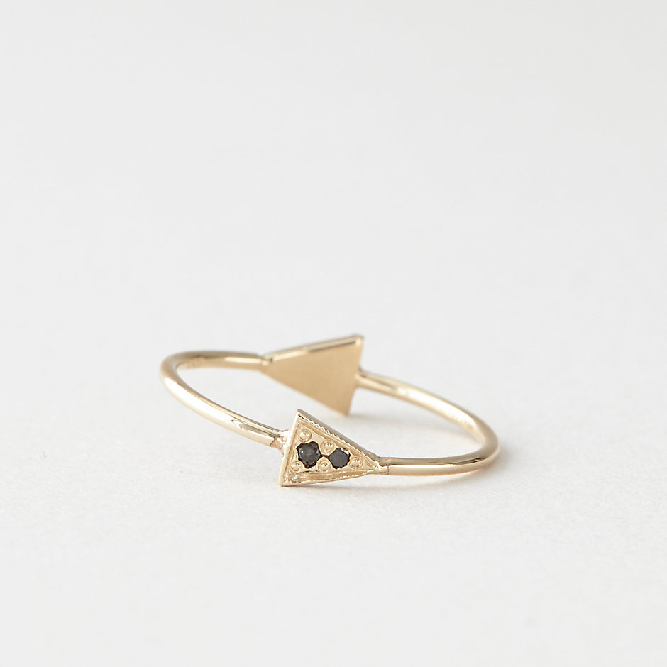 BLACK DIAMOND TRIANGLE RING