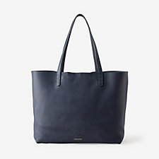 LARGE TUMBLED LEATHER TOTE