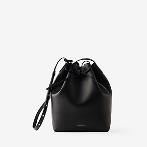 COATED LEATHER BUCKET BAG