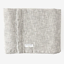 COTTON LINEN TWEED BLANKET