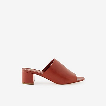 VEGETABLE TANNED MULES