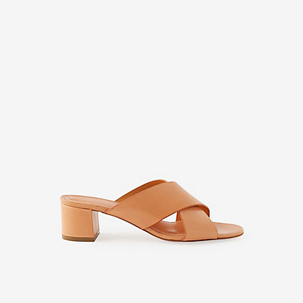 VEGETABLE TANNED X-STRAP MULES