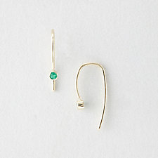 EMERALD HOOK EARRINGS