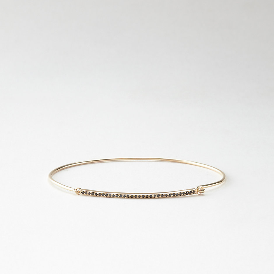 BLACK DIAMOND BAR CUFF BRACELET
