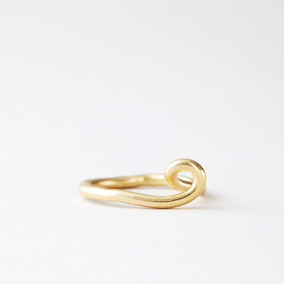 COBRA RING GOLD VERMEIL