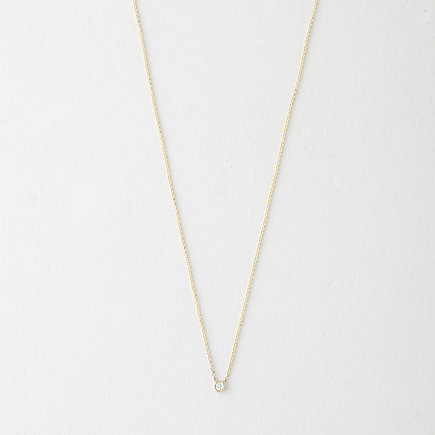 FLIRTY WHITE DIAMOND NECKLACE