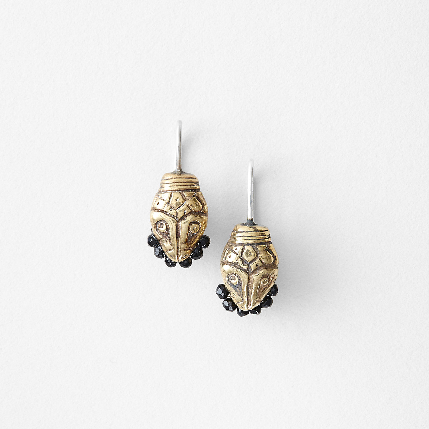 SNAKE BITE EARRINGS - BLACK