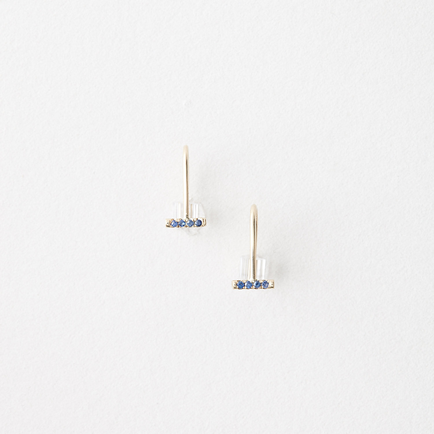 SAPPHIRE POOL SCALE EARRINGS