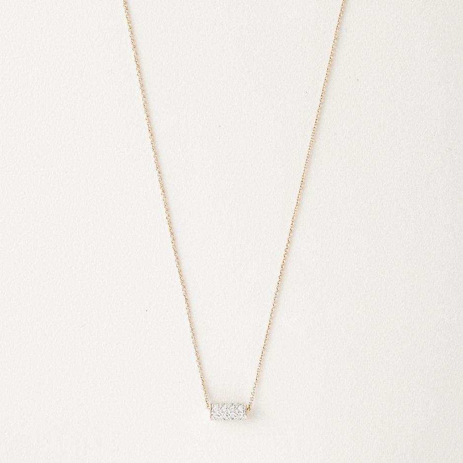 MINI STRAW DIAMOND NECKLACE