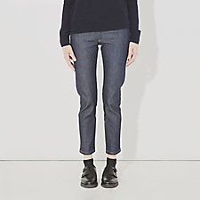 RAW DENIM CROPPED JEANS
