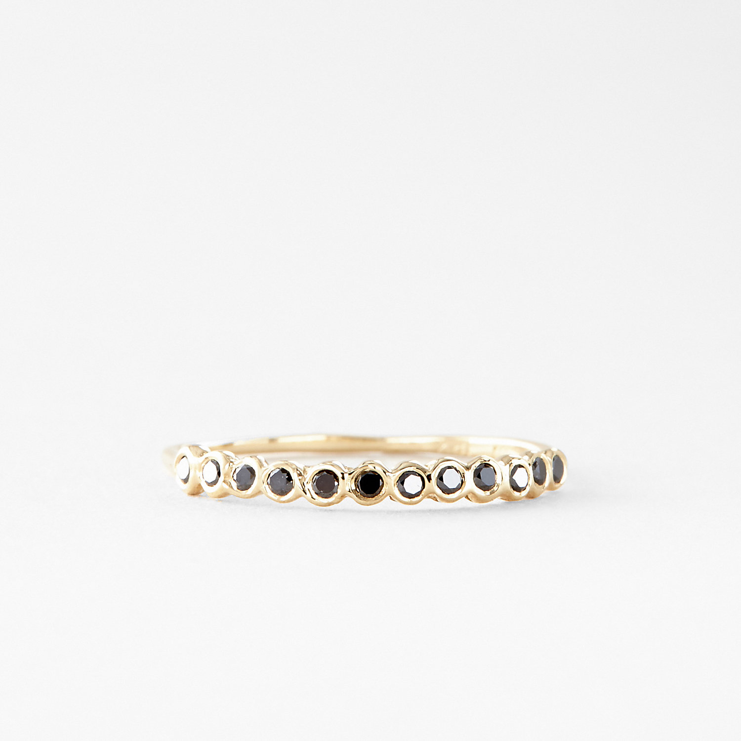 BLACK DIAMOND HALF CIRCLE ETERNITY BAND