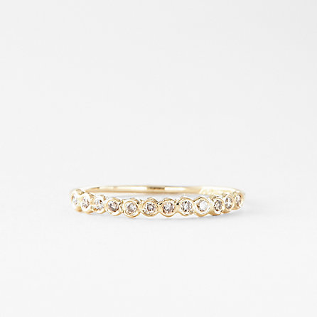 BROWN DIAMOND HALF CIRCLE ETERNITY BAND