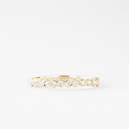 DIAMOND HALF CIRCLE ETERNITY BAND