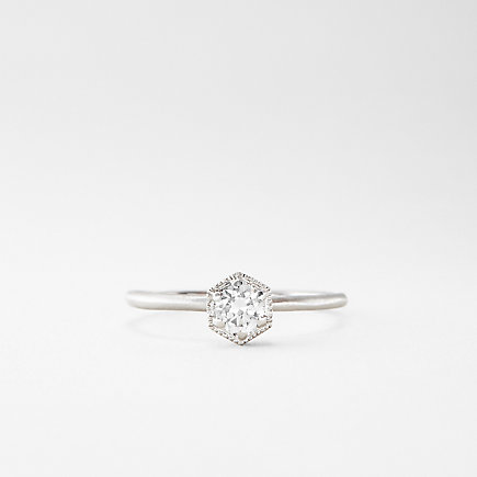 PLATINUM HEXAGON DIAMOND RING