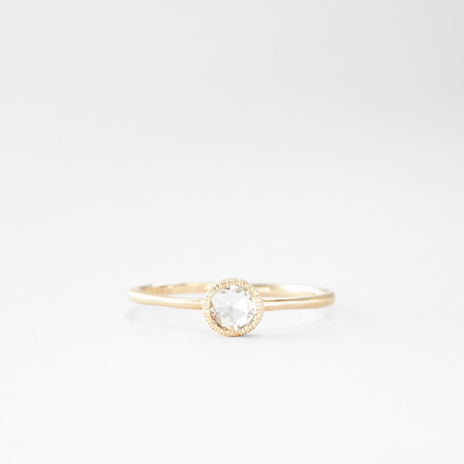 ROSE CUT SOLITAIRE RING