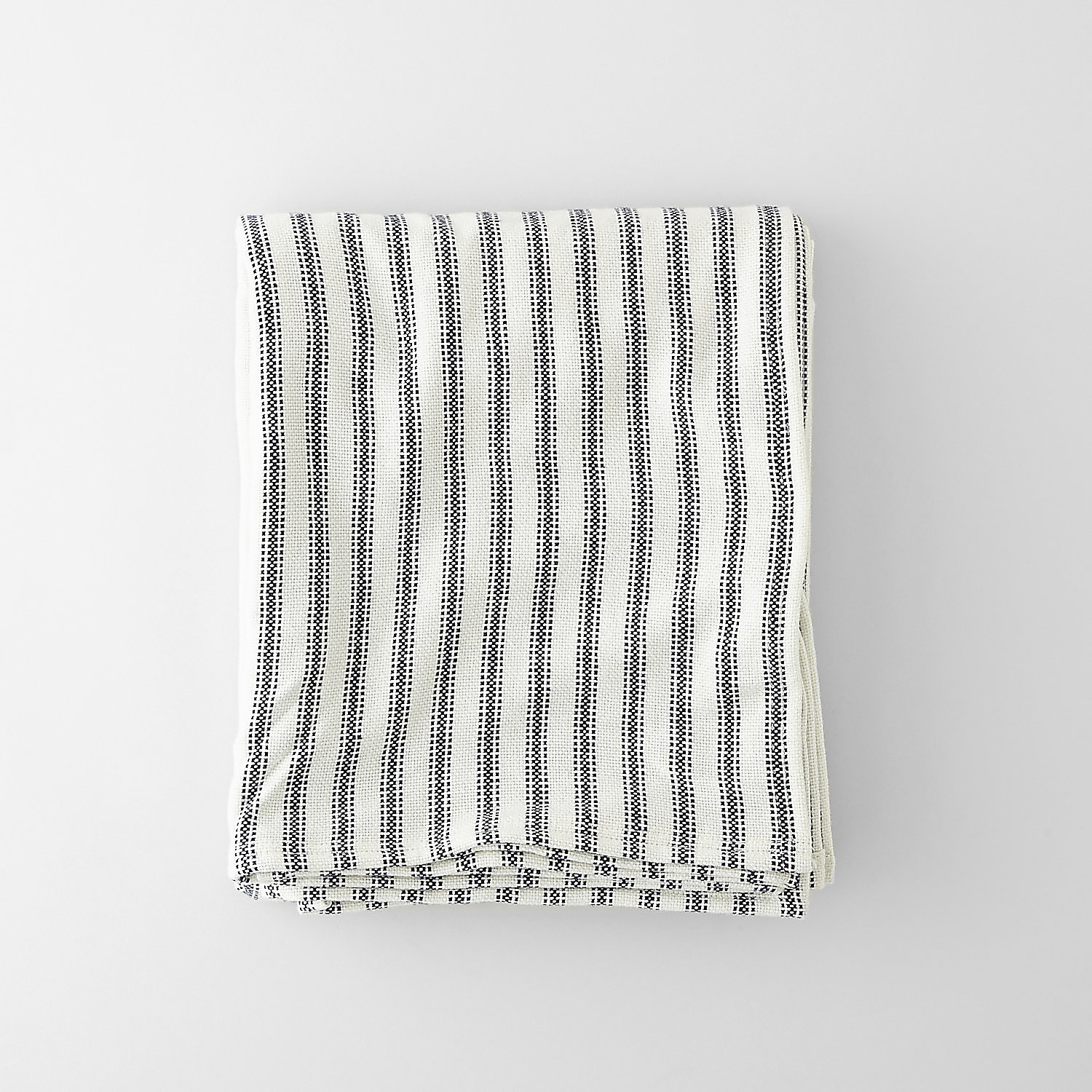 TICKING STRIPE WOOL BLANKET