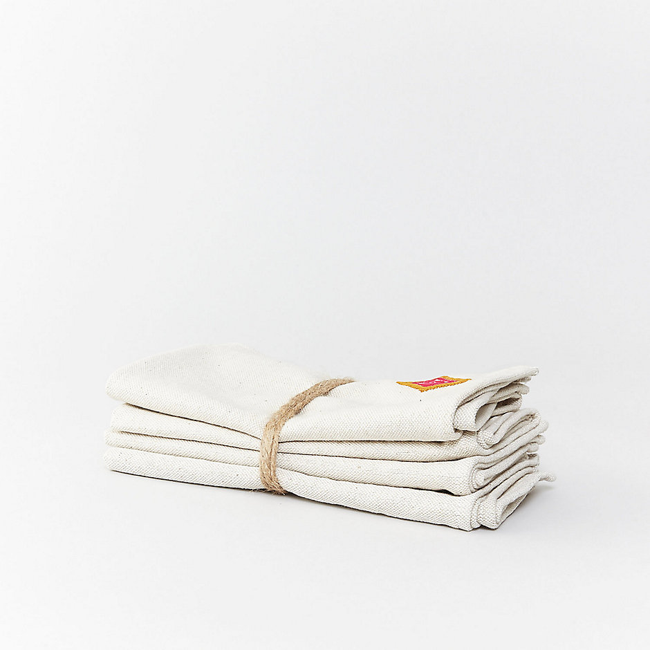 TWO TONE DIAMOND NAPKINS SET