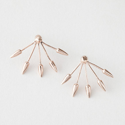 FIVE SPIKE STUD EARRINGS