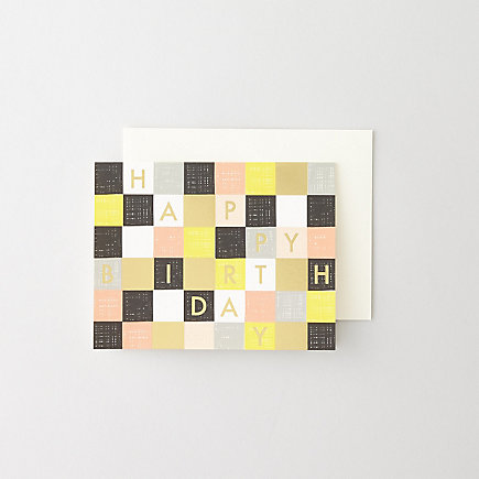 CHECKERED BIRTHDAY CARD